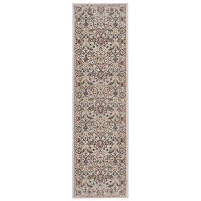 Lyon Gray/Ivory Area Rug Rug Size: Runner 22 x 76