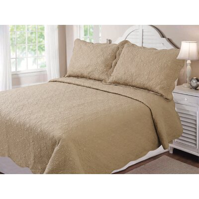 Vernon Quilt Set Size: Full / Queen, Color: Tan