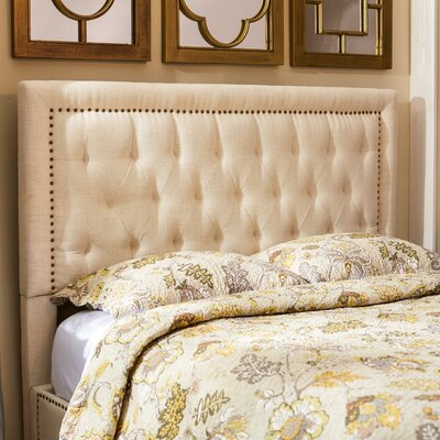 Djibril Square Upholstered Panel Headboard Upholstery: Cotton, Size: King