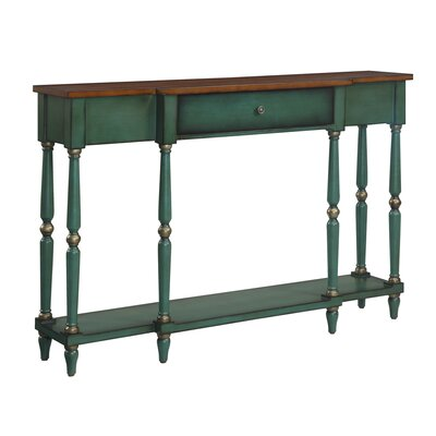 Lisette Console Table Finish: Green / Brown Antique
