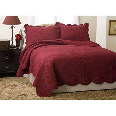 Ambroise Quilt Size: Full, Color: Biking Red