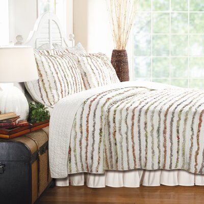 Dansereau Cotton Reversible Quilt Set Size: Full / Queen