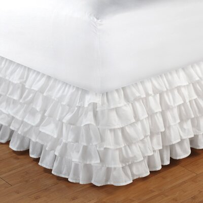 Lilie Tufted Bed Skirt Size: Twin, Color: White