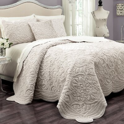 Charlotte 3 Piece Coverlet Set Size: King