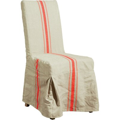 Champetre Parsons Chair Upholstery: Cream and Red