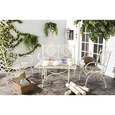 Lajoie 4 Piece Outdoor Seating Group Color: Antique White