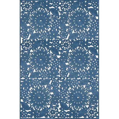 Lanier Hand Woven Blue Indoor/Outdoor Area Rug Rug Size: Rectangle 4 x 6