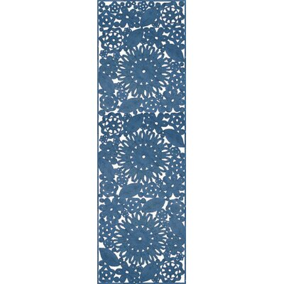 Lanier Hand Woven Blue Indoor/Outdoor Area Rug Rug Size: Runner 26 x 8