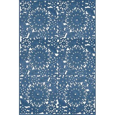 Lanier Hand Woven Blue Indoor/Outdoor Area Rug Rug Size: 8 x 10