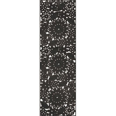 Camille Hand Woven Black Indoor/Outdoor Area Rug Rug Size: Runner 26 x 8