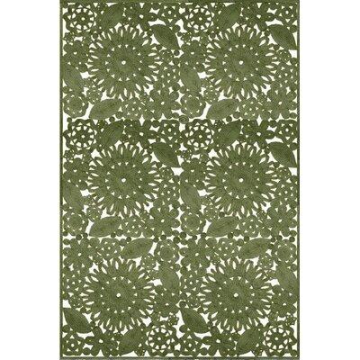 Larue Hand Woven Green Indoor/Outdoor Area Rug Rug Size: 5 x 76