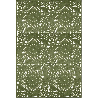 Camille Hand Woven Green Indoor/Outdoor Area Rug Rug Size: 8 x 10