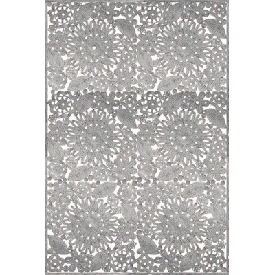 Laurent Hand Woven Gray Indoor/Outdoor Area Rug Rug Size: Rectangle 8 x 10
