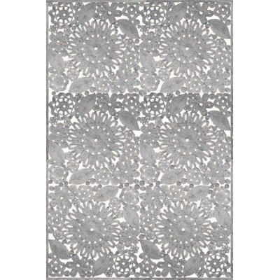 Laurent Hand Woven Gray Indoor/Outdoor Area Rug Rug Size: 5 x 76