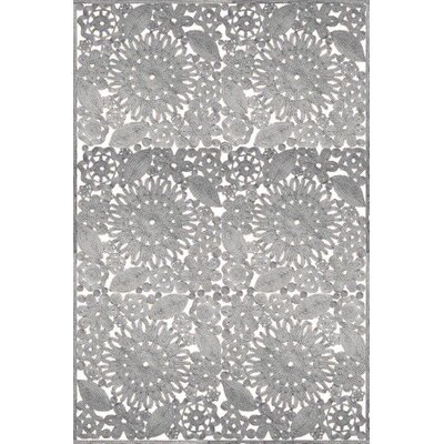 Laurent Hand Woven Gray Indoor/Outdoor Area Rug Rug Size: 8 x 10