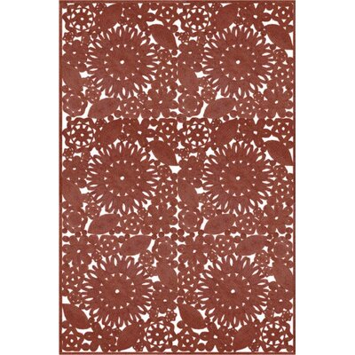 Camille Hand Woven Brown Indoor/Outdoor Area Rug Rug Size: Rectangle 4 x 6