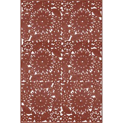 Lauria Hand Woven Brown Indoor/Outdoor Area Rug Rug Size: 5 x 76