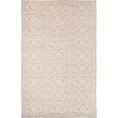 Lejeune Hand Knotted Beige Area Rug Rug Size: 6 x 9