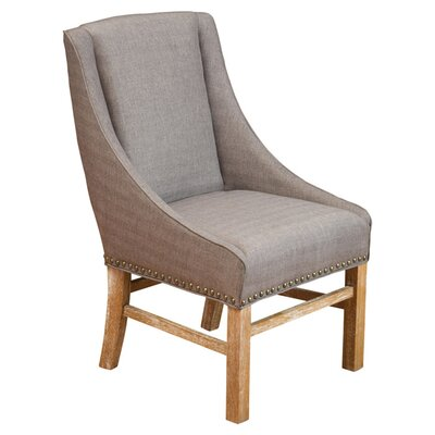 Busch Upholstered Dining Chair Color: Taupe
