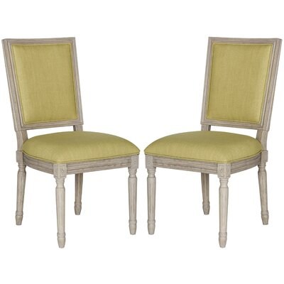 Guillemete Side Chair Finish: Spring Green / Rustic Gray