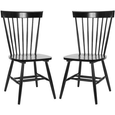 Saint-Pierre Solid Wood Dining Chair Finish: Black