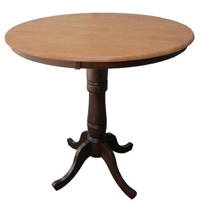 Saint-Mande 36 H Counter Height Pub Table Tabletop Size: 36 H x 36 W x 36 D, Finish: Cinnamon/Espresso