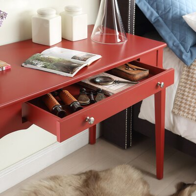 Amaury Writing Desk Color: Samba Red