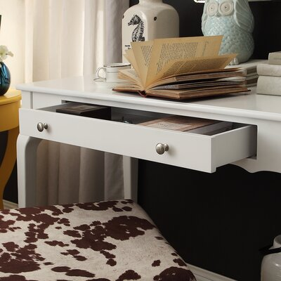 Amaury Writing Desk Color: White