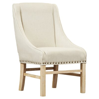 Busch Upholstered Dining Chair Color: Linen