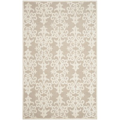 Dickinson Hand-Tufted Sand/Ivory Area Rug Rug Size: 4 x 6