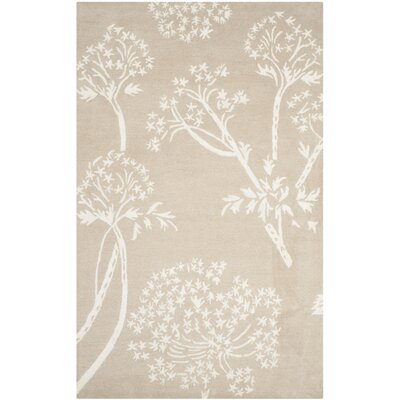 Mandy Hand-Tufted Sand / Ivory Area Rug Rug Size: 4 x 6