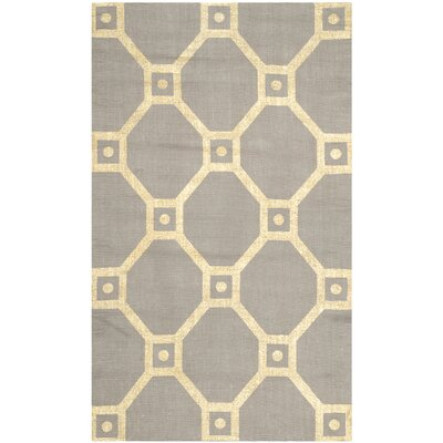 Bagneux Hand-Loomed Grey/Gold Area Rug Rug Size: 23 x 39