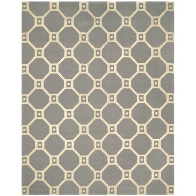 Bagneux Hand-Loomed Grey/Gold Area Rug Rug Size: 73 x 93