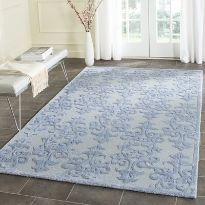 Dickinson Hand-Tufted Blue Area Rug Rug Size: Rectangle 2'6