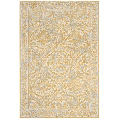 Montelimar Ivory/Gold Area Rug Rug Size: 4 x 6