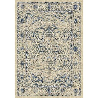 Montelimar Beige/Blue Area Rug Rug Size: 51 x 76