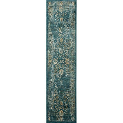 Montelimar Light Blue & Beige Area Rug Rug Size: Runner 2 x 8