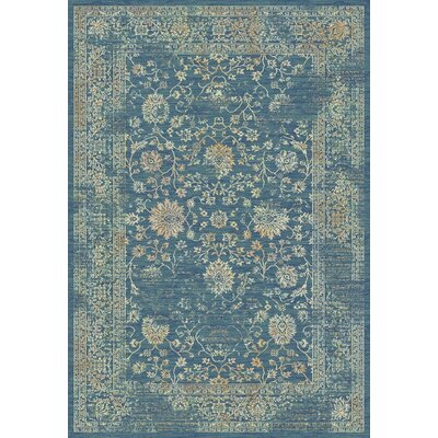 Montelimar Light Blue & Beige Area Rug Rug Size: 51 x 76
