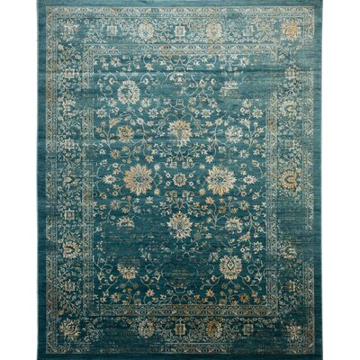 Melia Blue/Beige Area Rug Rug Size: Rectangle 8 x 10
