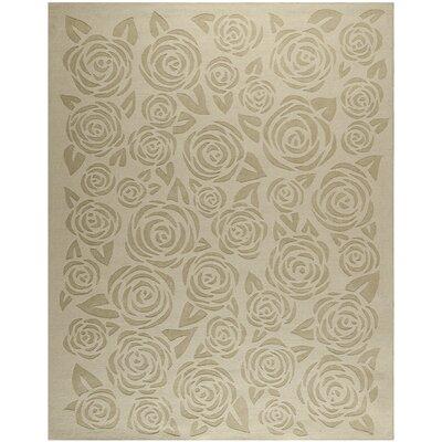 Block Print Rose Hand-Loomed Saguaro Area Rug Rug Size: 9 x 12