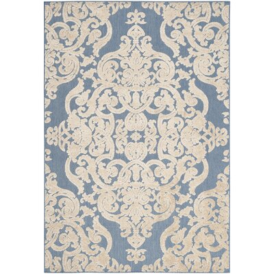 Lievin Blue Indoor/Outdoor Area Rug Rug Size: 67 x 96