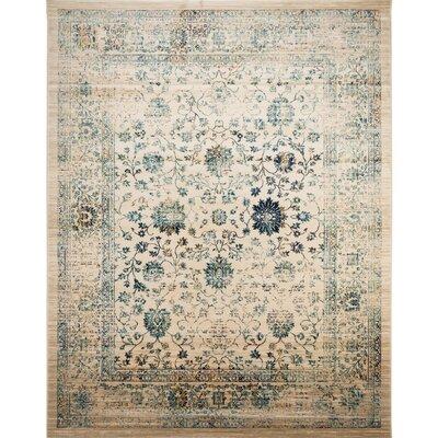 Montelimar Beige/Turquoise Area Rug Rug Size: 9 x 12