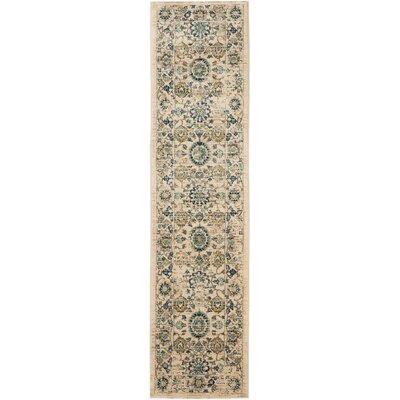 Montelimar Beige/Turquoise Area Rug Rug Size: Runner 2 x 8