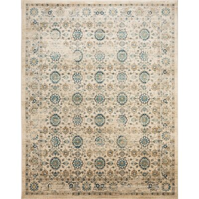 Montelimar Beige/Turquoise Area Rug Rug Size: Rectangle 8 x 10