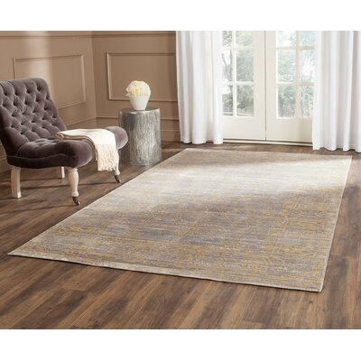 Menton Gray / Gold Area Rug Rug Size: Rectangle 6 x 9