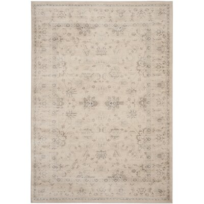 Malakoff Creame/Beige Area Rug Rug Size: Rectangle 51 x 77