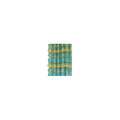 Atia Voile Ruffled Tier Shower Curtain Color: Umber