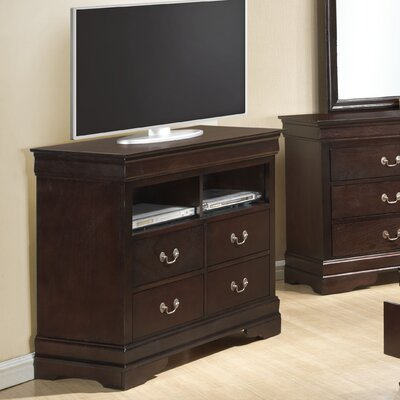 Corbeil 4 Drawer Media Chest Color: Cappuccino
