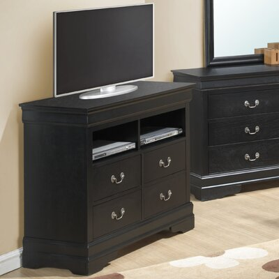 Corbeil 4 Drawer Media Chest Color: Black