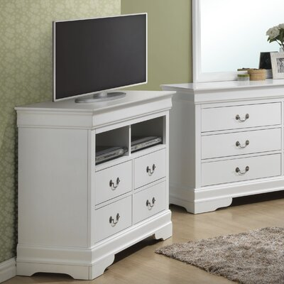 Corbeil 4 Drawer Media Chest Color: White